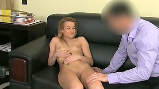Casting Shy golden-haired takes large dong in interview