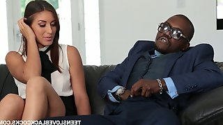 Bouncy black dude with killer hubs throbs his girl doggystyle in a reality shoot