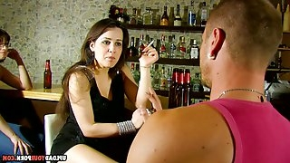 Hottie gets picked up by strangers who shove their dicks into her juicy cunt.
