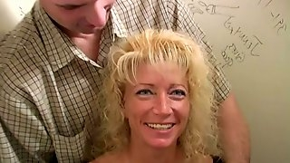 White Cougar Brings Her Man to an Interracial Gloryhole