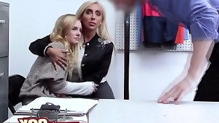 Sexy MILF loves fucking with naughty cop infront of her niece after being caught stealing.