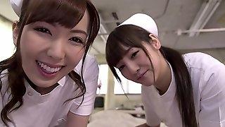 Yui Hatano with Rei Miziuna Threesome nurses
