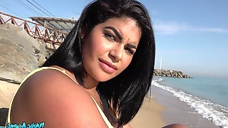 Amateur video of brunette Sheila Ortega with massive tits and ass