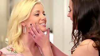 Georgia Jones and Charlotte Stokley are making love with each other, in the early afternoon