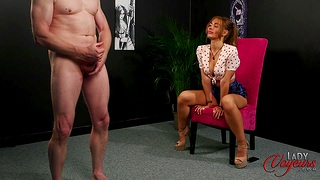 Clothed female naked man, XXX full-grown fantasy