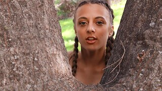 Outdoors FFM threesome take oversexed babes Demi Sutra & Gia Derza